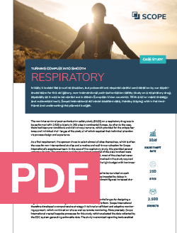 SCOPE CRO case study respiratory PDF