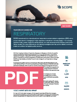 SCOPE CRO fact sheet respiratory PDF